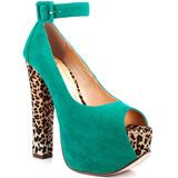 MUST HAVE......GONE HAVE....Luichiny's Multi-Color More Of It - Aqua Leopard for 89.99 direct from heels.com