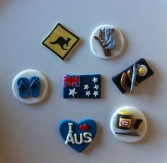 Australia Day Cupcake Toppers - by SugarandSpiceCupcakes on madeit