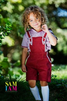 Cutest outfit from our collection. Photo by Sam I am Photography. Overall Shorts, Fairytale, Cute Girls, Overalls, Kids Fashion, Cute Outfits, Girly, Hipster, Spring Summer