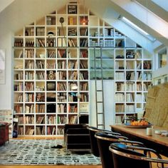 Cool bookcase idea.