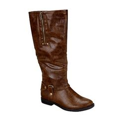 Limelight Brinkley Cognac knee high boots,8M, Low Heel, NIB,Riding*