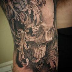What does filigree tattoo mean? We have filigree tattoo ideas, designs, symbolism and we explain the meaning behind the tattoo. Leaf Tattoos, Body Art Tattoos, Sleeve Tattoos, Tatoos, Tattoo Sleeves, Clockwork Tattoo, Greek God Tattoo, Scroll Tattoos, Wood Tattoo