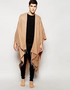 ASOS+Loungewear+Camel+Woven+Cape