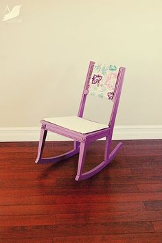 rocker refinished and complete!  Thank you trash!