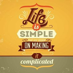 Placa Decorativa | Life Is Simple