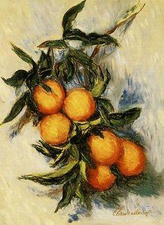 1884 Claude Monet Ramo con arance(collezione privata)