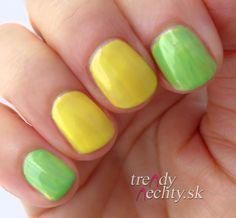 yellow-green design, nail art, Nail Design