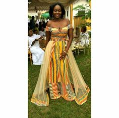 60 Beautiful Kente styles to try - Ankara Lovers African Wedding Attire, African Attire, African Wear, African Women, African Dress, Ghana Wedding Dress, Latest African Styles, Trendy Ankara Styles, Kente Styles