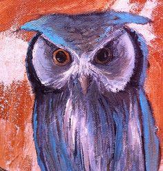 'Blue Japanese Owl' by Laura Brock
