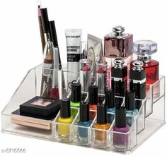 Checkout this latest Jewellery Boxes_0-500 Product Name: *16 Section Acrylic Makeup Cosmetic Organizer (Tools not included) * Material: Acrylic Size(L X B X H): 22 cm x 13 cm x 8 cm Description: It Has 1 Piece Of Makeup Cosmetic Storage Organiser Country of Origin: India Easy Returns Available In Case Of Any Issue   Catalog Rating: ★3.9 (1230)  Catalog Name: Elite Stylish Trendy Organisers & Storage Vol 18 CatalogID_519182 C131-SC1625 Code: 792-3715566-186