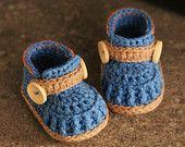 Crochet Pattern Baby Boys Booties Crete Sneaker by Inventorium