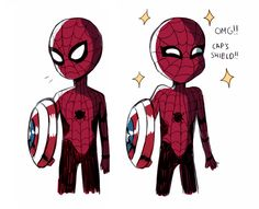 Spider-Man. Totally his reaction after his little entrance in Captin America: Civil War.
