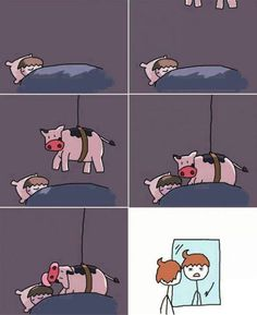 How Cowlicks Really Happen lol this is so cute, i love cows.......