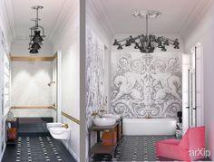 Ванная комната на конкурс от Студии дизайна интерьера Дарьи Бельской: интерьер, квартира, дом, санузел, ванная, туалет, эклектика, 20 - 30 м2 #interiordesign #apartment #house #wc #bathroom #toilet #eclectic #20_30m2 arXip.com