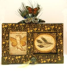 Memory Box using Staples and Olde Curiosity Shoppe