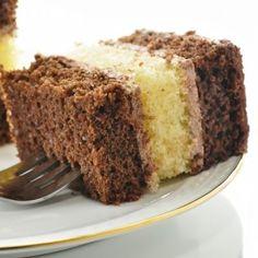 Layered Yellow And Chocolate Cake Recipe