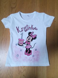 Minnie Mouse textile painting