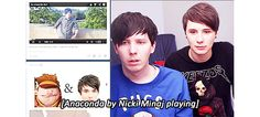 LOOK AT THE DIFFERENT REACTIONS BETWEEN DAN AND PHIL << phil: OH NO MY POOR INNOCENT EYES LOOK AWAY  dan: kinky