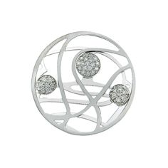 My iMenso 33mm Sterling Silver Fantasy Cubic Zirconia  33-0247