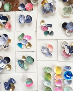 From neutral blues to the brightest and lightest, it's all on my desk today. I love working on batches of these small eggshell pieces -…