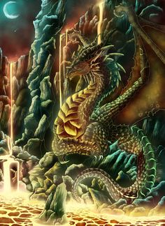 lava.dragon by XRosewaterX.deviantart.com on @DeviantArt