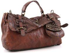 Lavata Satchel Leather cognac 38 cm