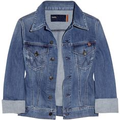 Notify Coquelicot stretch-denim jacket ($110) ❤ liked on Polyvore featuring outerwear, jackets, tops, coats & jackets, blue jackets, stretch denim jacket and embroidered jacket