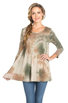 Women's Tunics - Frumos Womens Top Various Style Tunic For Womens Made In USA  2016 August New Style * Want to know more, click on the image.