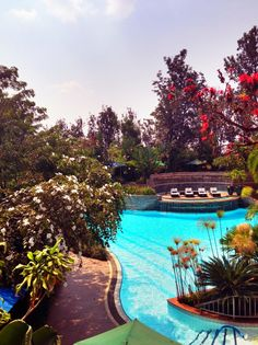 Kigali Serena Hotel in Kigali, Kigali... THERES ALWAYS BEAUTIFUL HOTELS THAT YOU CAN JUST PAY LIKE $10 US and SIT IN THE SUN ALL DAY AND READ A BOOK