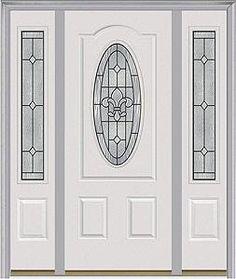Door with two sidelites. Milliken Millwork. Carrollton - 949CRL  sc 1 st  Pinterest & Entry door. Door with two sidelites. Milliken Millwork. Heirloom ...