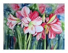 """Maria Inhoven, """"Amaryllis"""" (48) With a click on 'Send as art card', you can send this art work to your friends - for free!"""
