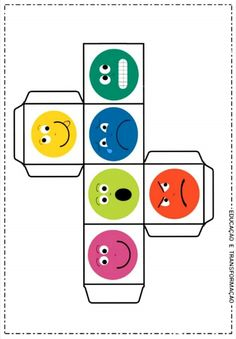 Dados de emociones Emotions Preschool, Teaching Emotions, Emotions Activities, Feelings And Emotions, Social Emotional Learning, Spanish Classroom Activities, Teaching Activities, Preschool Worksheets, Toddler Activities