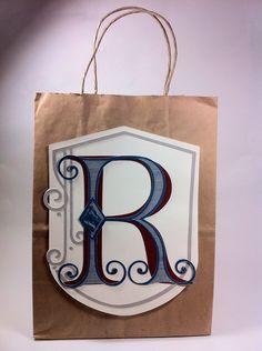 Courtney Lane Designs: easy masucline gift bag made using the fontopia cartridge.