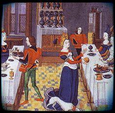 De filenfil: Histoire du linge de table - Le moyen-âge (suite)