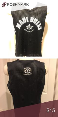 Men's Maui Built Mesh Jersey size Large Men's Maui Built Mesh Jersey size Large. Preowned and in great condition! This brand can only be purchased ON Maui! Maui Built Shirts Tank Tops