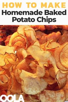 How To Make Outstanding Homemade Potato Chips - appetizers & sides - Potatoes Recipes Oven Potato Chips, Homemade Baked Potato Chips, Air Fryer Potato Chips, Fried Potato Chips, Fried Chips, Homemade Chips In Oven, Baked Sweet Potato Chips, Homemade Crisps, Air Fryer Chips