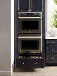 Oven with drawers underneath for storage