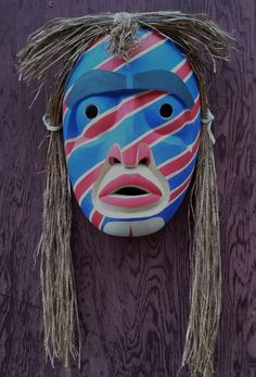 Herald Mask - Hand Carved Red Alder Mask By TL'PA - Nuxalk Artist by CedarCoastCarving on Etsy