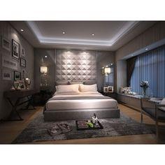 3D Plant Fiber Diamond Design Wall Panels (10 Panels Per Box) - 15707708 - Overstock.com Shopping - Top Rated Wall Paneling