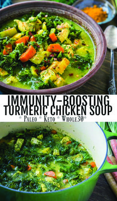 Immunity-Boosting Turmeric Chicken Soup Immunity-Boosting Turmeric Chicken Soup Holley Grainger Nutrition holleygrainger Soup Recipes Immunity-Boosting Turmeric Chicken Soup with carrots parsnips parsley ginger and nbsp hellip soup with bone broth Turmeric Soup, Turmeric Recipes, Paleo Recipes, Cooking Recipes, Healthy Winter Recipes, Kale Soup Recipes, Candida Diet Recipes, Healthy Soups, Clean Eating Snacks