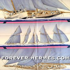Sold out in our store http://forever-hermes.com #ForeverHermes this  Hermes Paris silk scarf designed by the famous Yannick Manier titled Rafales and featuring the #Sailing scene of your dreams! #yacht #yachting #sailor for a #WallDecor #WallDecoration of your #YachtClub or #Ship for the #dapper #gentleman #nautical #Ocean sea #MensSuit  #travel traveller #WomensWear #womensfashion #MensSuit #MenStyle #MensWear #mensfashion #HermesLover #HermesParis #Hermes #Paris