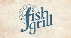 Pacific Fish Grill - logo design / designbolt.com