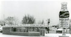 Springfield, Illinois. Don's Drive-in. Cherry Rd. and MacArthur 1956. Courtesy of Springfield Rewind and Sangamon Valley Archives.