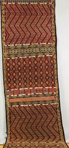 Tent textile from the nomadic tribes of southern Morocco, ca. Textile Texture, Textile Fabrics, African Textiles, African Patterns, Textures Patterns, Fabric Patterns, African Home Decor, Fabric Rug, Lace Print