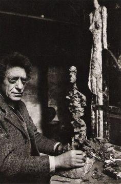 Alberto Giacometti, Paris, France, 1960 bty Rene Burri.