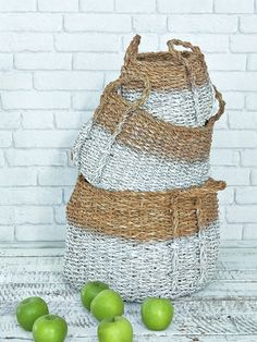 Stylish Dipped Baskets - Nordic House 69.00