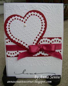 A Peek Inside The Creative Corner: A Pretty Valentine Card