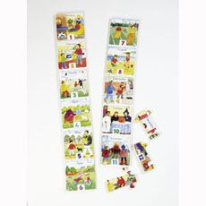 A #matching game which #teaches the order of the #months of the year. The pictures stimulate visual memory and associate the name of the month with its principal characteristic. #british #england #derby #madeinengland #madeinbritain