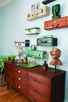 DIY Suitcase Shelves