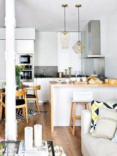 cuisine semi ouverte sur salon avec bar les nouvelles ides house - Amenager Petit Salon Avec Cuisine Ouverte